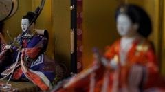 Japanese traditional Hina dolls during Hinamatsuri, Tokyo, Stock Footage