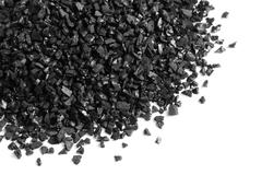 Granular activated carbon - stock photo