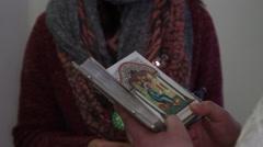 Orthodox priest - stock footage