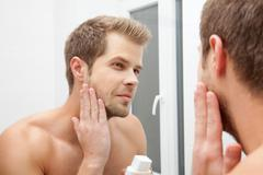 Morning hygiene - stock photo