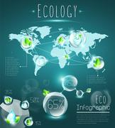 Ecological infographic Stock Illustration