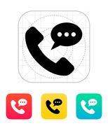 Audio message icon - stock illustration