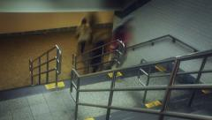 Underground entrance time-lapse Stock Footage