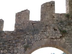 Hvar fortress merlons against sky Stock Photos