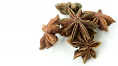 Star anise isolated on a white background Stock Footage