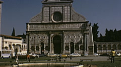 Florence 1974: Santa Maria Novella church Stock Footage