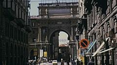 Florence 1974: Piazza della Repubblica Stock Footage