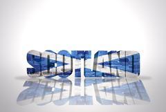 Word Scotland  on the white background Piirros