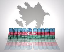 Word Azerbaijan - stock illustration