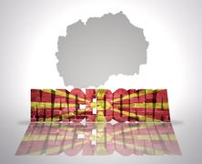 Stock Illustration of Word Macedonia on a map background