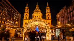 Budapest - St. Stephen's Basilica Stock Footage