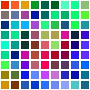 Color square blocks on a white background illustration. - stock illustration