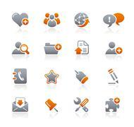 Web Blog & Internet // Graphite Icons Series Stock Illustration