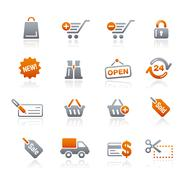 Shopping Web Icons // Graphite Series Stock Illustration