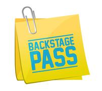 backstage pass post it illustration design - stock illustration