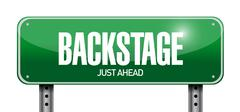backstage road sign illustration design - stock illustration