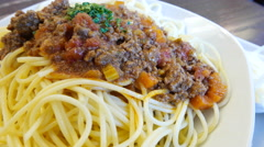 4k+ Fresh hot spaghetti bolognaise Stock Footage