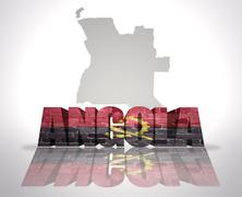 Stock Illustration of Word Angola on a map background