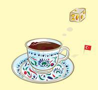 Coffee and turkish Delight Stock Illustration