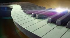 Moody Curvy Piano Keys Stock Illustration