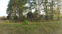 lonely farmhouse - stock footage