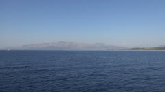Landscape with Mediterranean sea,  seen from a boat trip in a summer day. Stock Footage