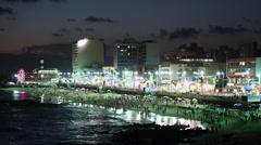 Night View of Brazilian Carnaval in Salvador, Bahia, Brazil Stock Footage