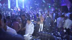 Dance Floor at Packed Night Club - stock footage