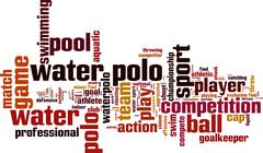 Water polo word cloud Stock Illustration