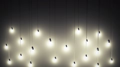 Lighting decor - stock footage