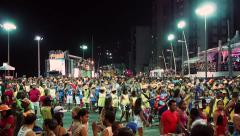 Street View of Brazilian Carnaval in Salvador, Bahia, Brazil Stock Footage