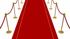 Red Carpet, White background Stock Footage