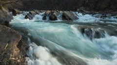 Waterfall on river timelapse Stock Footage