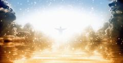 Jesus Christ in heaven - stock illustration