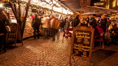 Budapest Christmas Fair 05 Stock Footage