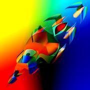 Interesting Colorful Abstract 3d Fish. Art Illustration. Digitally Generated. Stock Illustration