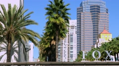 4K, UHD, Fox Movie Studios, Los Angeles, California Stock Footage
