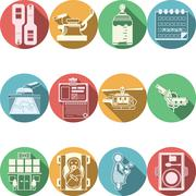 Colored icons vector collection for gynecology - stock illustration