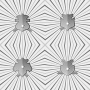 Stock Illustration of insignia shield product label art