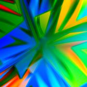 Bang Background. Abstract Colorful Energetic Artworks. Creative Art. Blue Green. - stock illustration