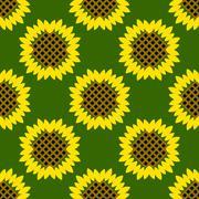 Vintage background  vector illustration. Sunflowers seamless pattern. Stock Illustration