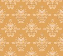 Vintage background. Royal ornament. - stock illustration