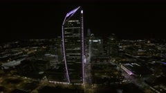 Downtown Charlotte Night Aerial Arkistovideo