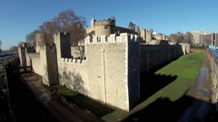 The Tower of London, Royal Palace 2 Stock Footage