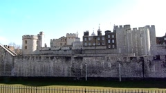 The Tower of London, Royal Palace 5 Stock Footage