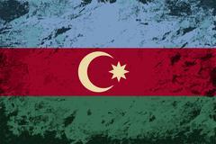 Stock Illustration of Azerbaijan flag. Grunge background. Vector illustration