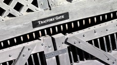 A close up of Traitors Gate at The Tower of London United Kingdom Stock Footage