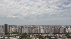 4K time lape zoom out aerial view Curitiba Skyline - stock footage