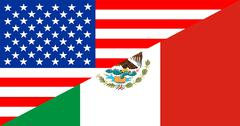 usa mexico - stock illustration