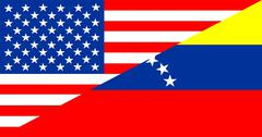 usa venezuela - stock illustration